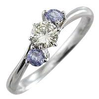 [スカイベル] タンザナイト 天然ダイヤモンド プラチナ900 リング レディース 約0.18ct リングサイズ 12号