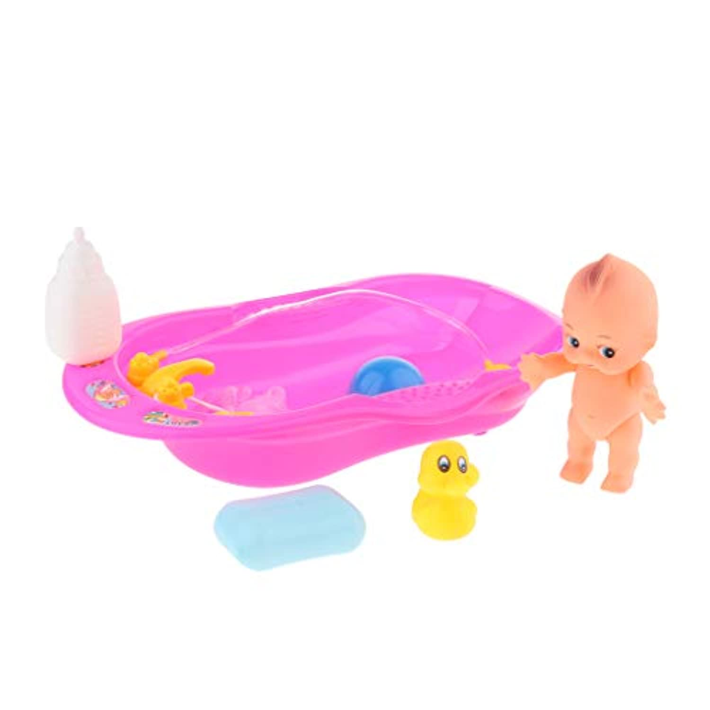 B Blesiya 子供 お風呂おもちゃ バスタブ玩具 赤ちゃん人形風呂セット