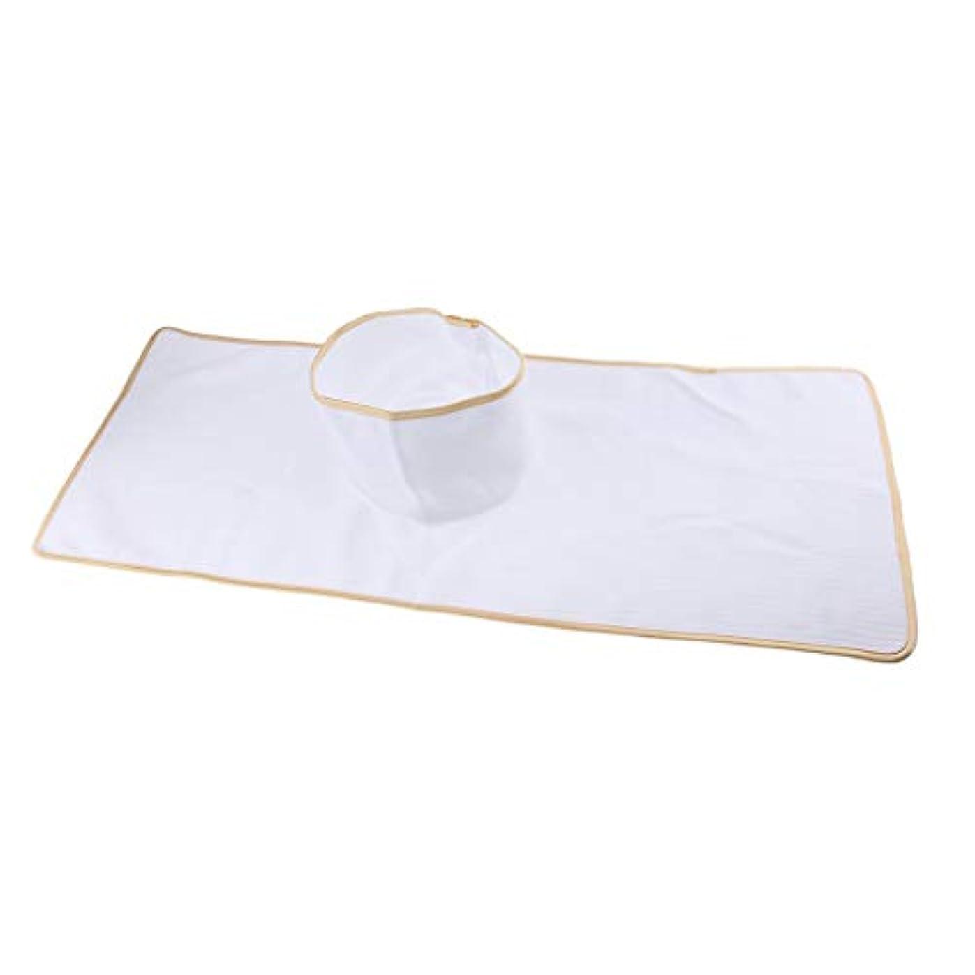 Baoblaze マッサージテーブルカバー シート パッド 顔の穴付き 再使用可能 約90×35cm 全3色 - 白