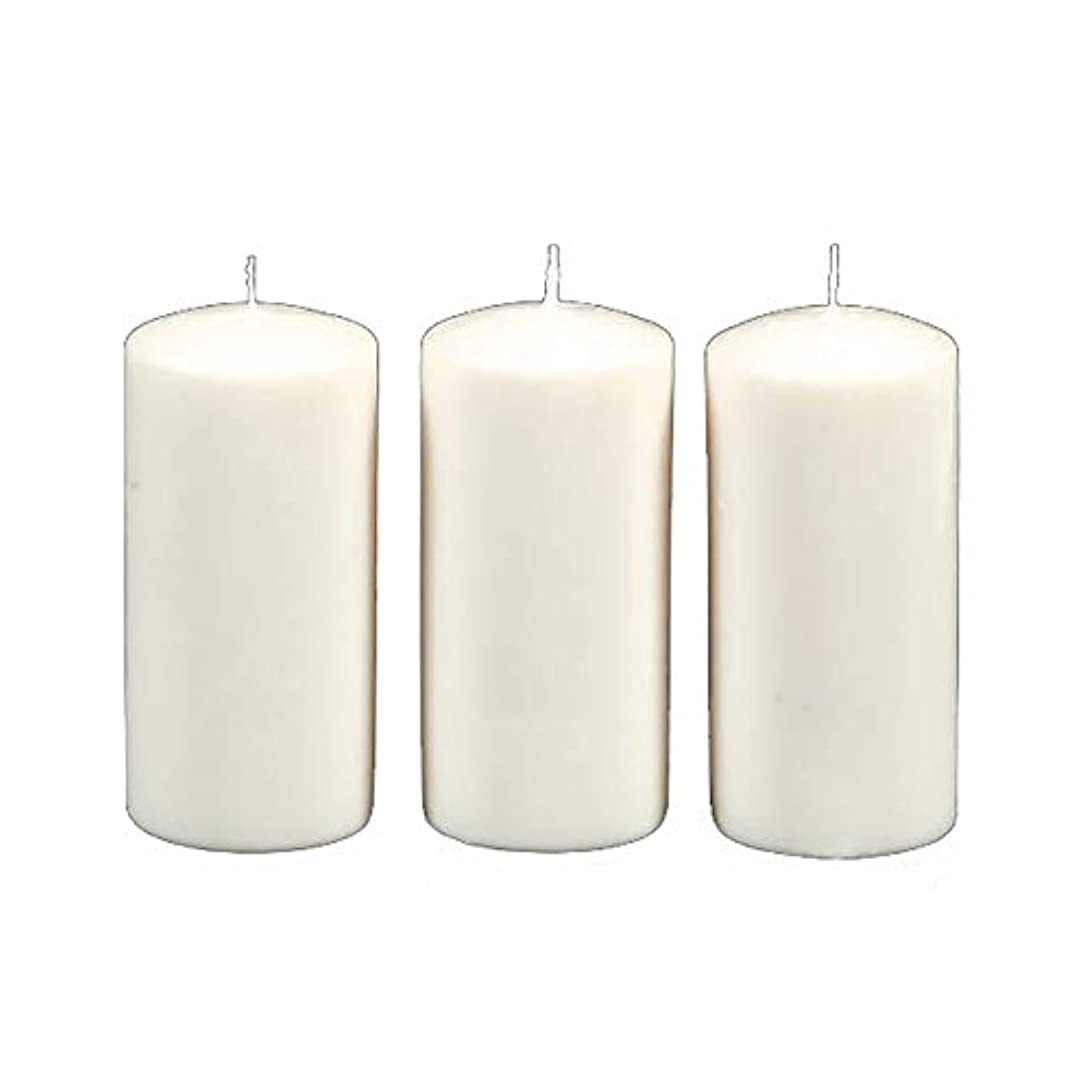 Darice 3-Piece Unscented Pillar Candles, 3 Inch by 6-Inch, White by Darice