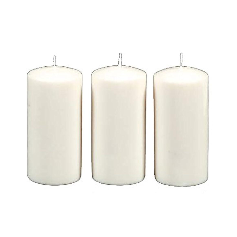 強大な単調な辞書Darice 3-Piece Unscented Pillar Candles, 3 Inch by 6-Inch, White by Darice