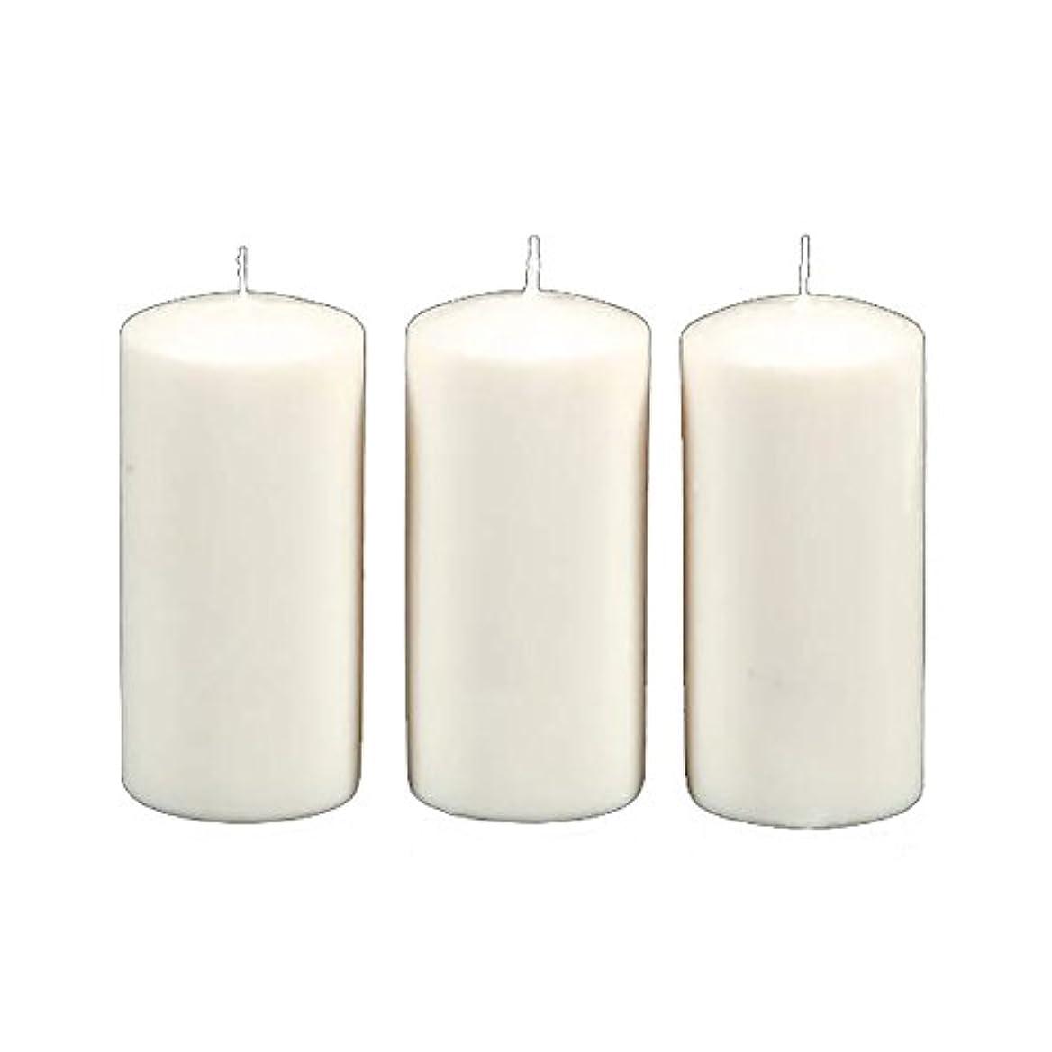 無駄靴下ポップDarice 3-Piece Unscented Pillar Candles, 3 Inch by 6-Inch, White by Darice