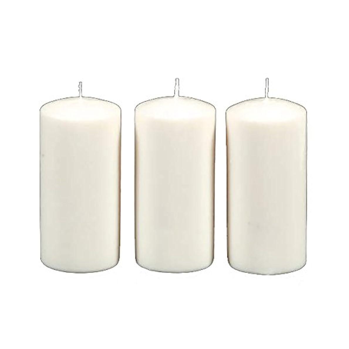 なにしばしばバスルームDarice 3-Piece Unscented Pillar Candles, 3 Inch by 6-Inch, White by Darice