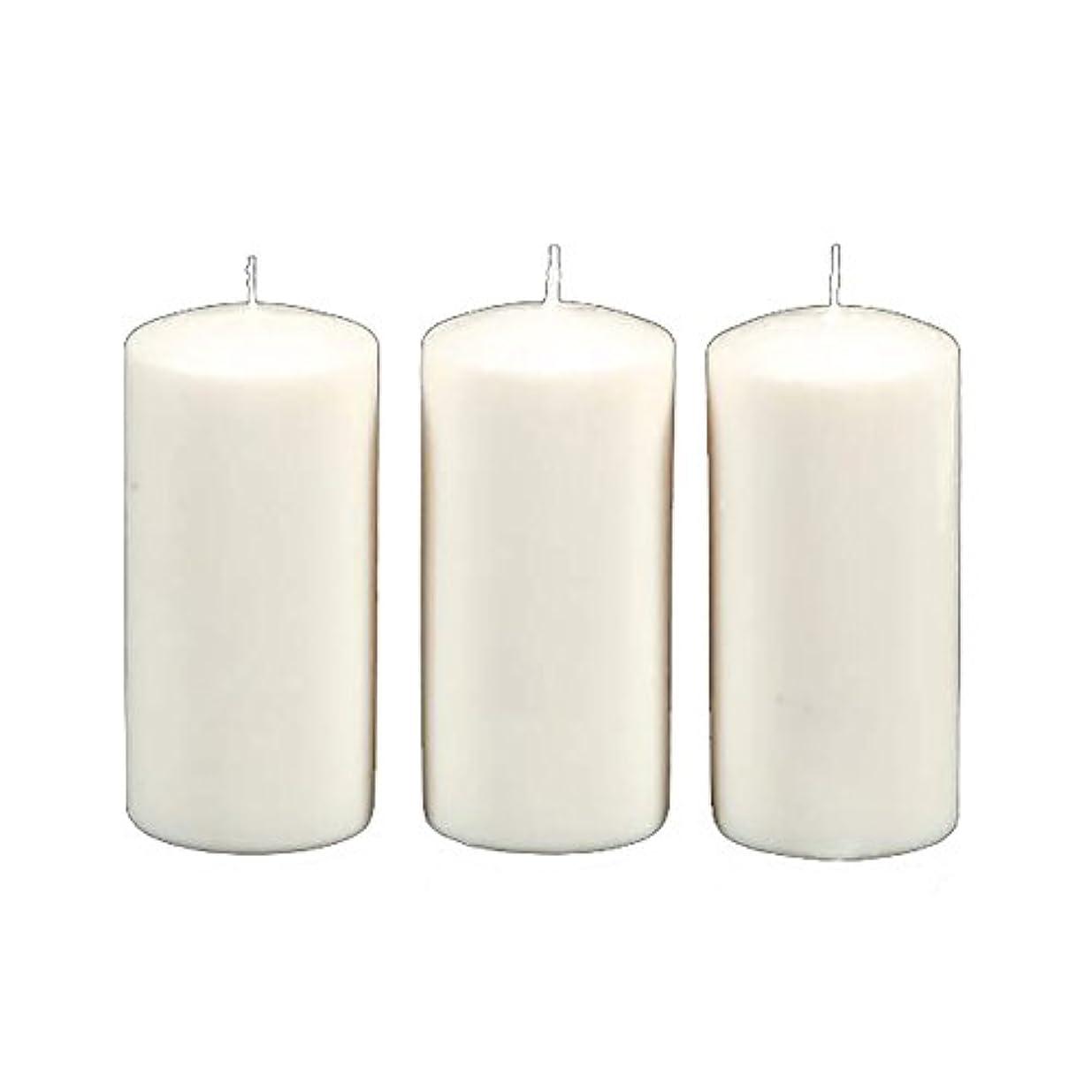 上平らな航空便Darice 3-Piece Unscented Pillar Candles, 3 Inch by 6-Inch, White by Darice