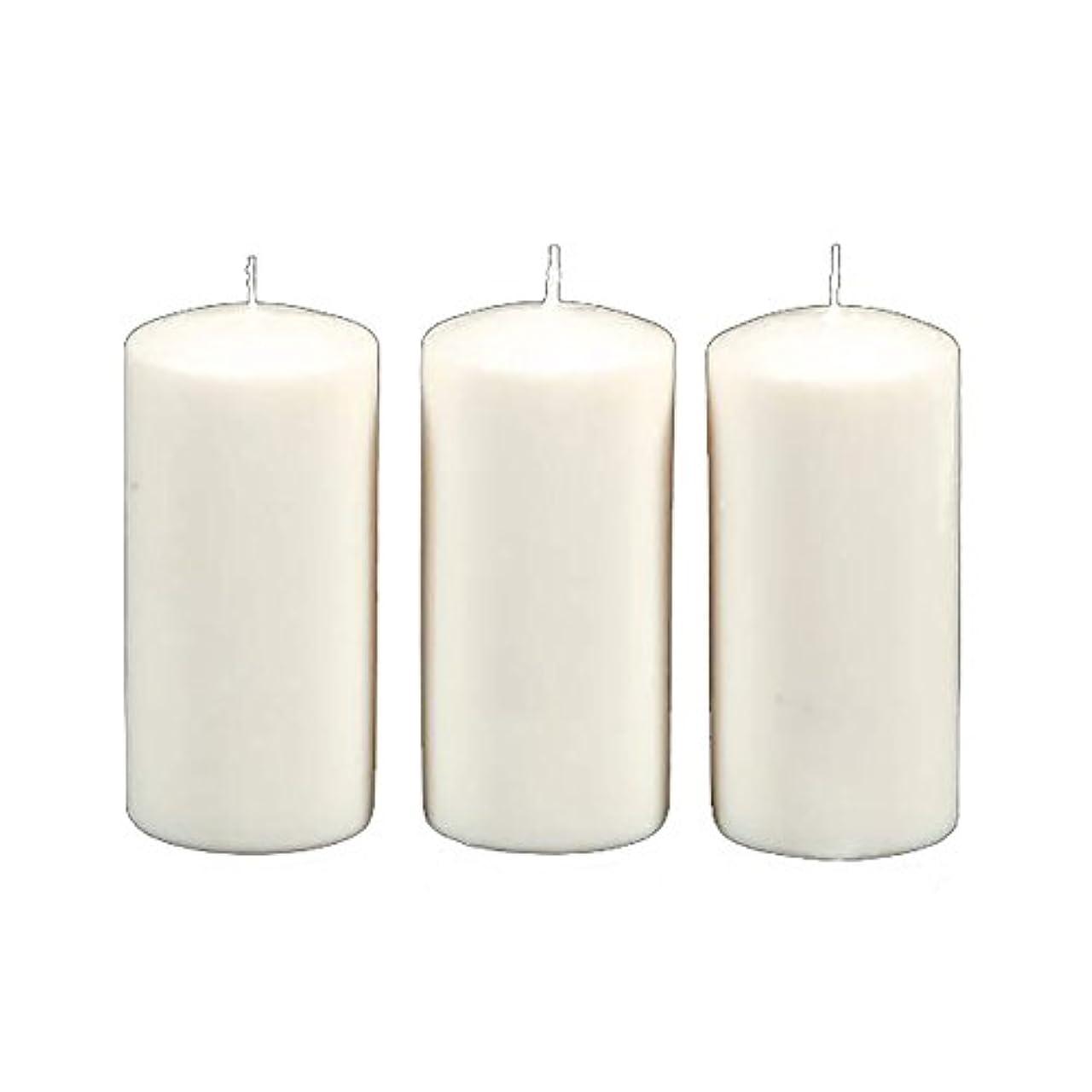 リスト留まるエネルギーDarice 3-Piece Unscented Pillar Candles, 3 Inch by 6-Inch, White by Darice