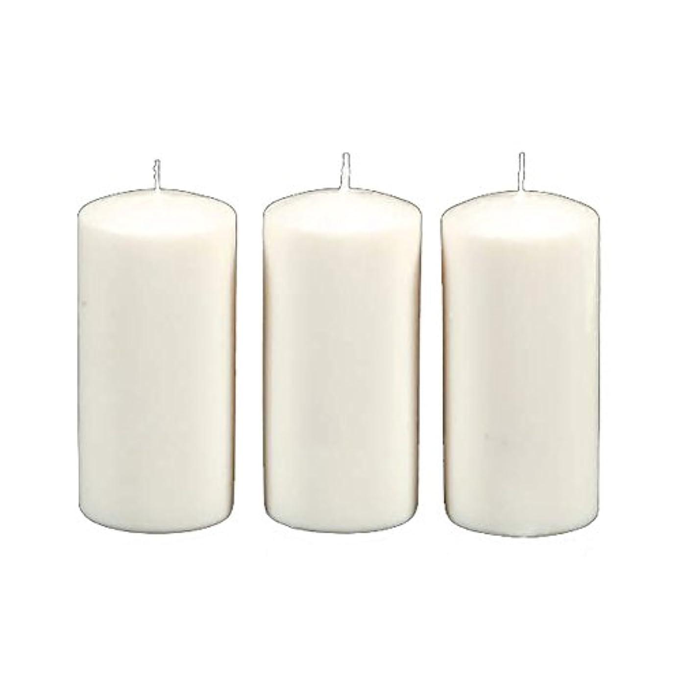 コメンテーターマイル卒業Darice 3-Piece Unscented Pillar Candles, 3 Inch by 6-Inch, White by Darice