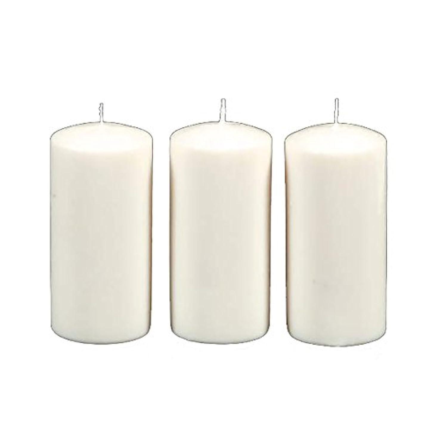 情熱誕生倉庫Darice 3-Piece Unscented Pillar Candles, 3 Inch by 6-Inch, White by Darice