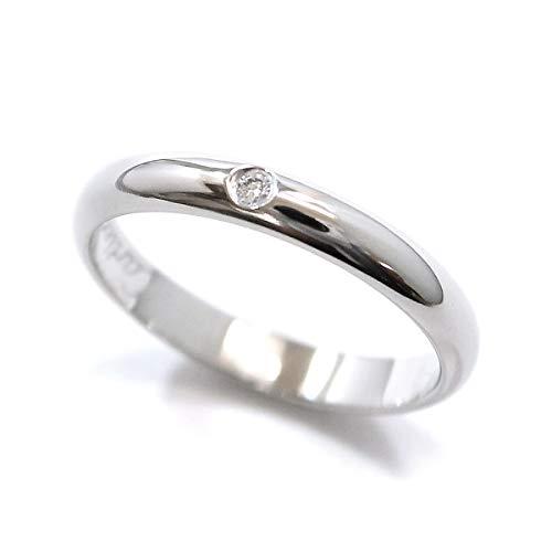 カルティエ Cartier クラシック ダイヤ 1P #45 リング Pt950 プラチナ 幅2.6mm ダイア 指輪 【中古】 90054832
