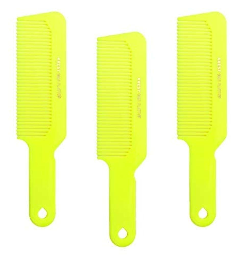 瞑想的ソファー一般Hair Comb 8-3/4 Flattop Hair Cutting Comb. Barbers Hairdresser Comb. Model 9001. 3 Combs (Neon Yellow) [並行輸入品]