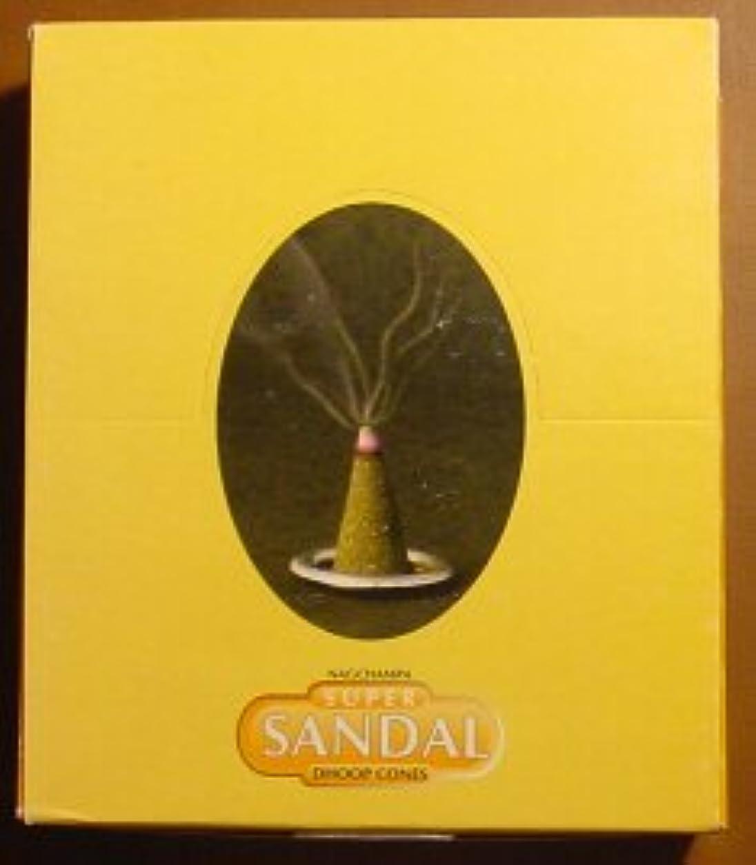 スーパーサンダルコーン – ボックスof 12パッケージ( 144 Cones合計) – Satya Sai Baba Incense