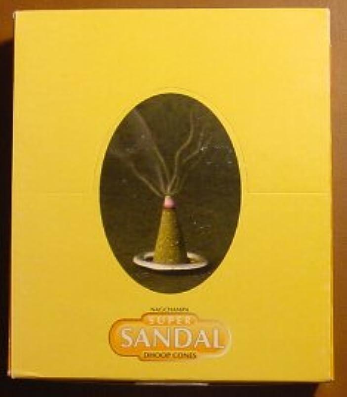 寄付する日付シンポジウムスーパーサンダルコーン – ボックスof 12パッケージ( 144 Cones合計) – Satya Sai Baba Incense