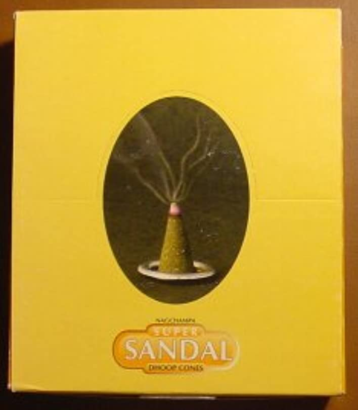木製居住者第九スーパーサンダルコーン – ボックスof 12パッケージ( 144 Cones合計) – Satya Sai Baba Incense