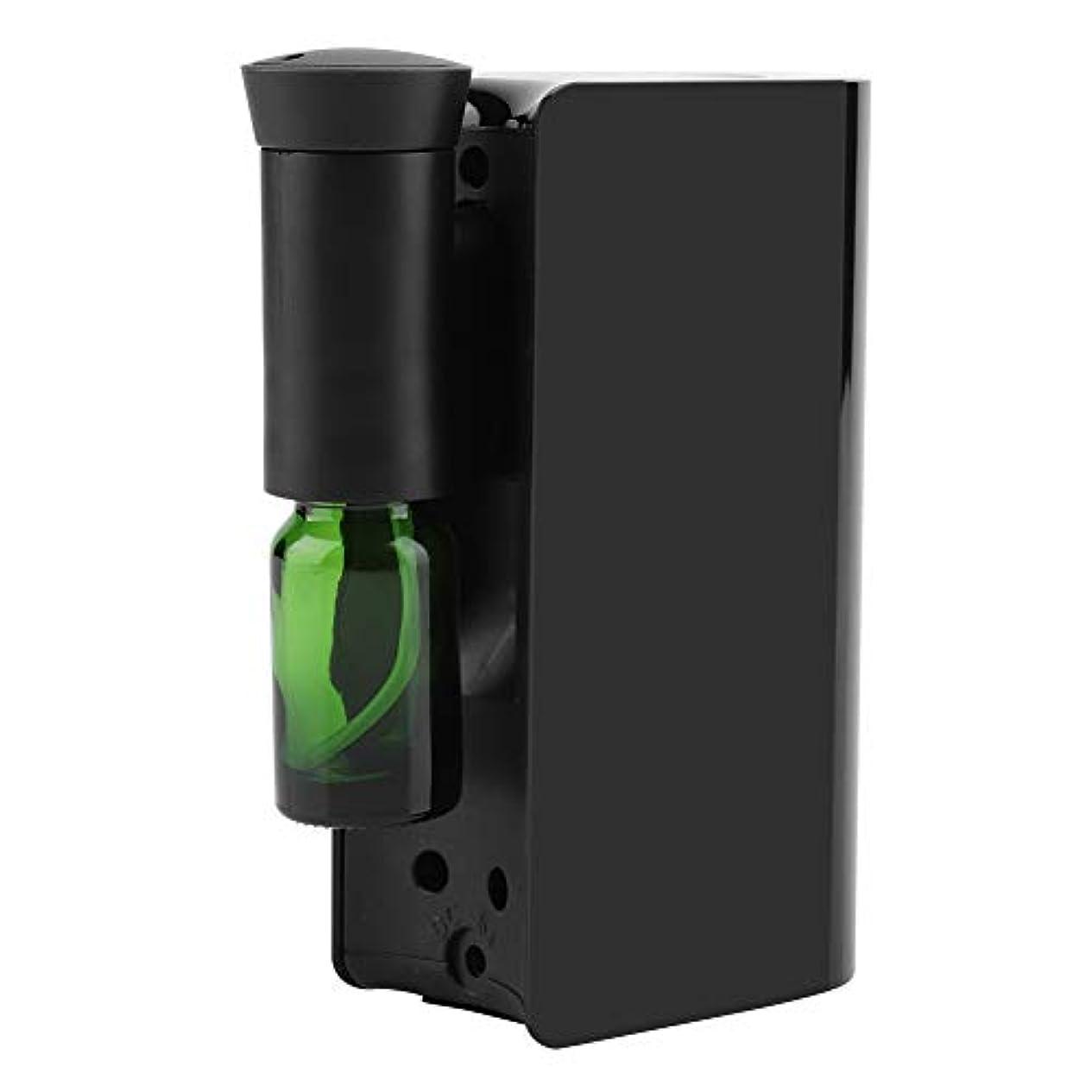 寺院クラフト用心エッセンシャルオイルディフューザー、100ml USB充電式クールミスト加湿器アロマオイル加湿器気化器アロマディフューザー(ブラック)