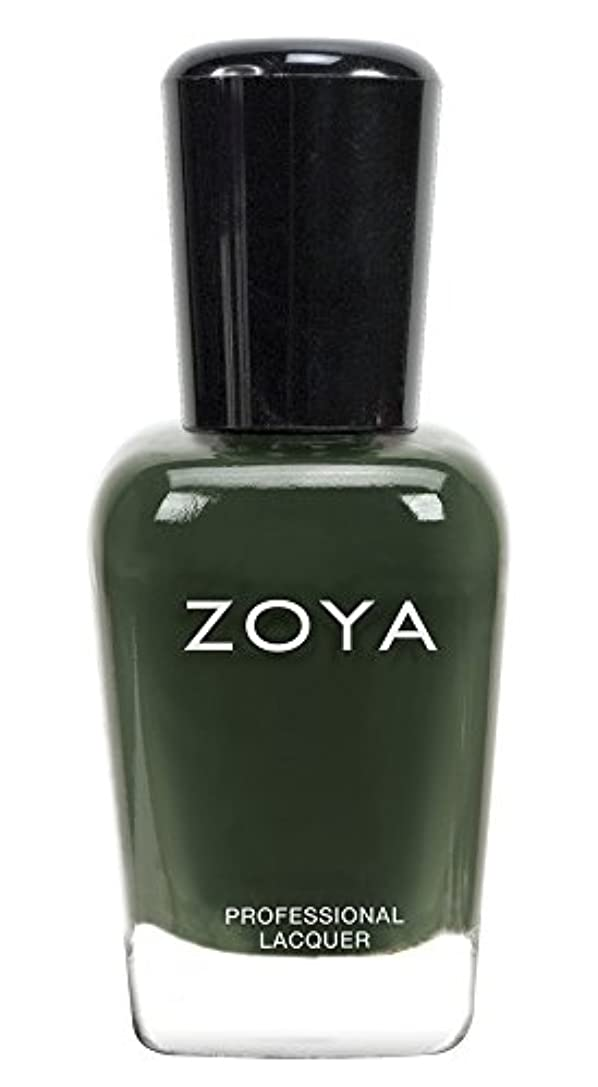実業家一般蓄積するZOYA ゾーヤ ネイルカラーZP695 HUNTER ハンター 15ml  2013年秋CASHMERES 2013FALL Collection 深い森のようなグリーン マット/クリーム 爪にやさしいネイルラッカーマニキュア