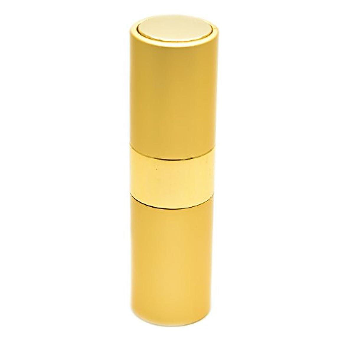 著作権保全情緒的Prilliant 香水 アトマイザー プッシュ式 詰め替え 携帯便利 オシャレ 容量15ml (ゴールド)