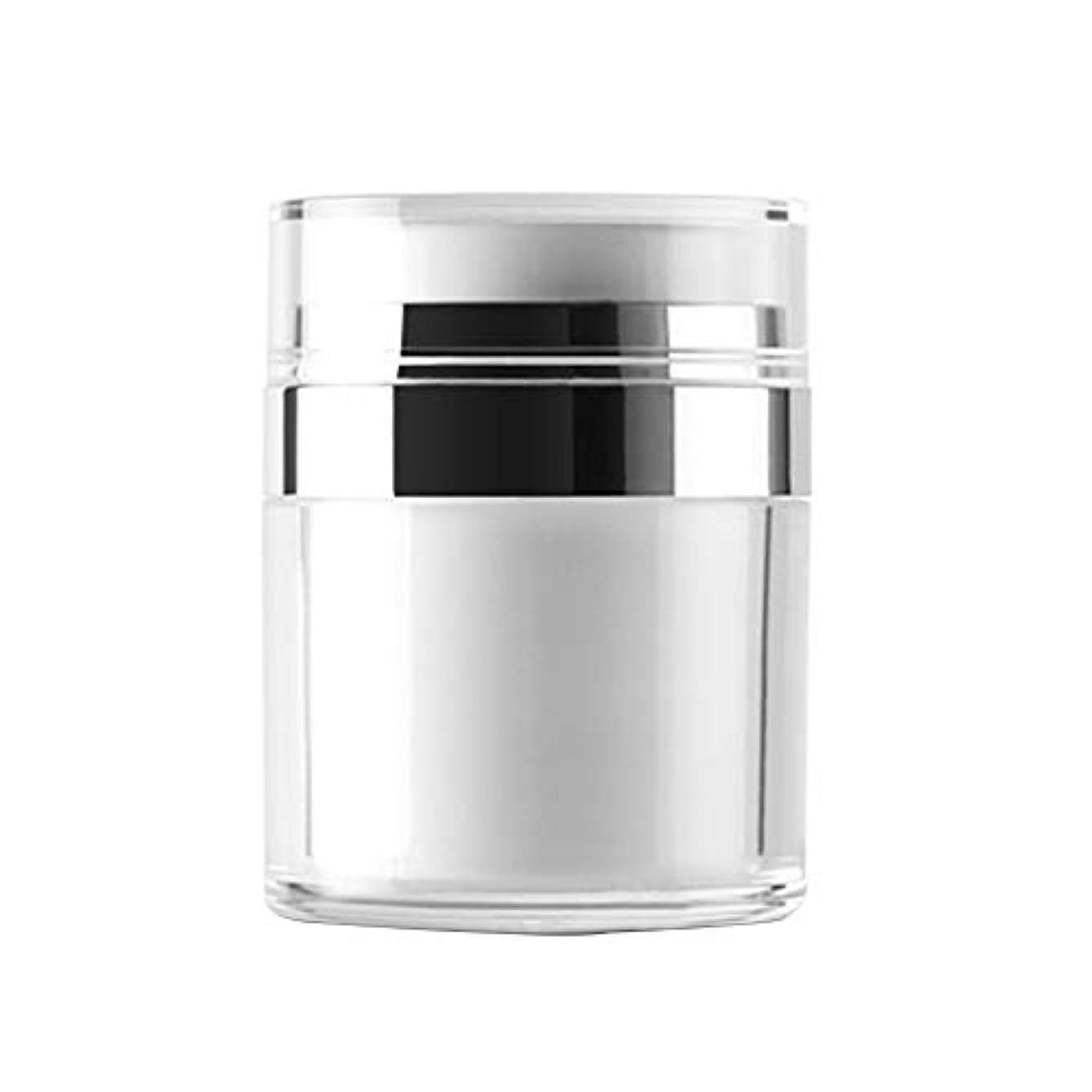 解説波口ひげVi.yo 小分け容器 トラベルボトル 真空押し式詰替用ボトル 携帯用 旅行 出張用 クリーム 軟膏 乳液など入り 30g
