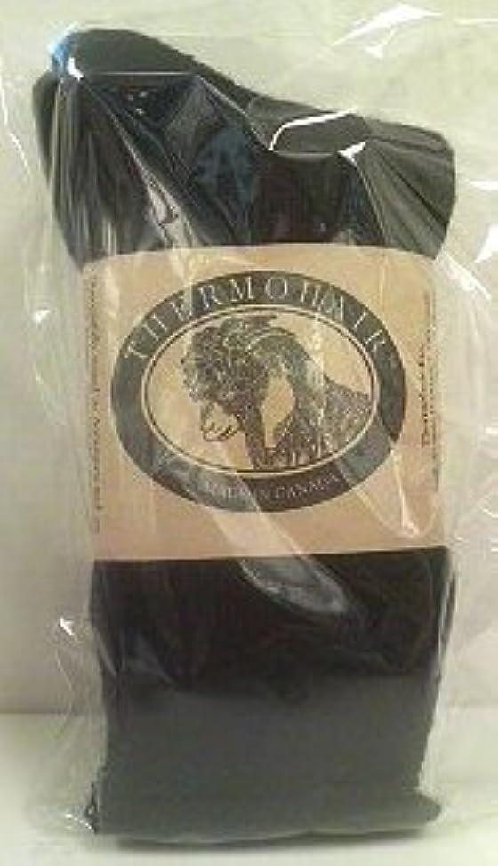 肉屋ベーコン重要なTHERMOHAIR サーモヘア?レギュラーソックス ブラックM(23.5~25cm)