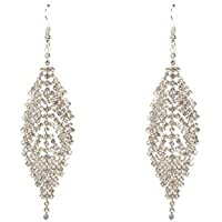 Colette Hayman - Diamante Chain Leaf Drop Earrings