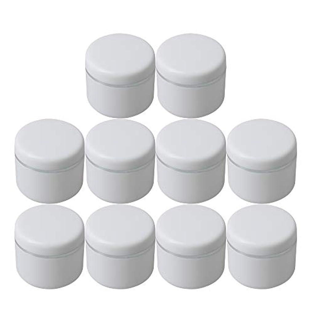 暖かさドロップ結紮Diystyle 10個入 クリームケース 空ポット 空容器 化粧品用 30g 詰替え ホワイト