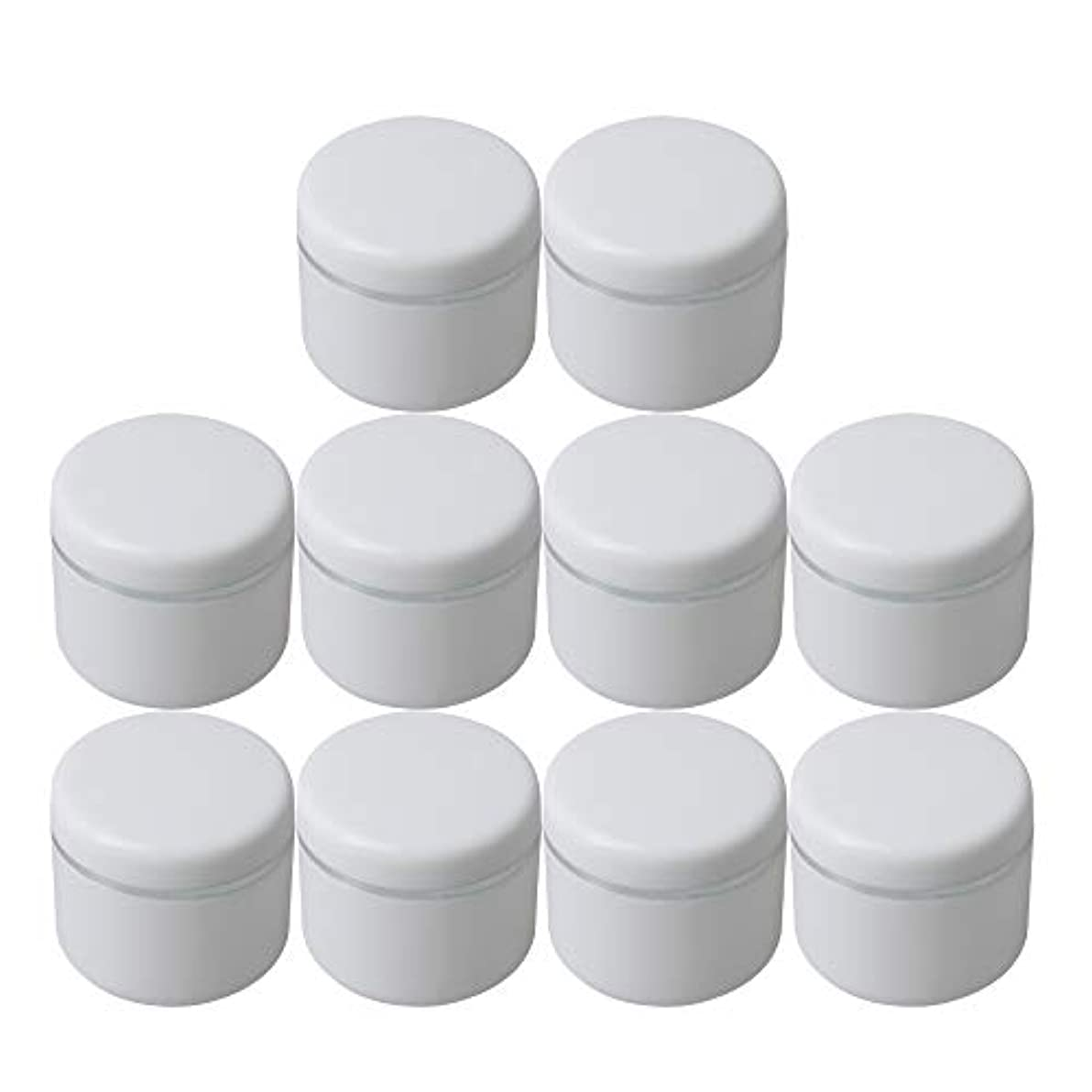 関連付ける半径計画的Diystyle 10個入 クリームケース 空ポット 空容器 化粧品用 30g 詰替え ホワイト