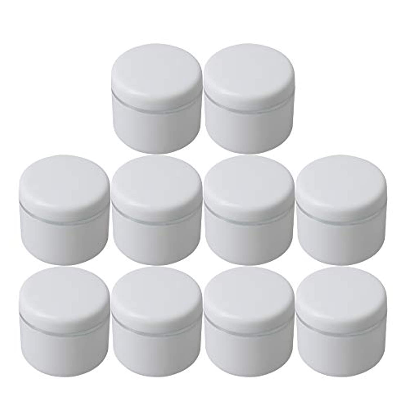 コスチューム滞在セミナーDiystyle 10個入 クリームケース 空ポット 空容器 化粧品用 30g 詰替え ホワイト