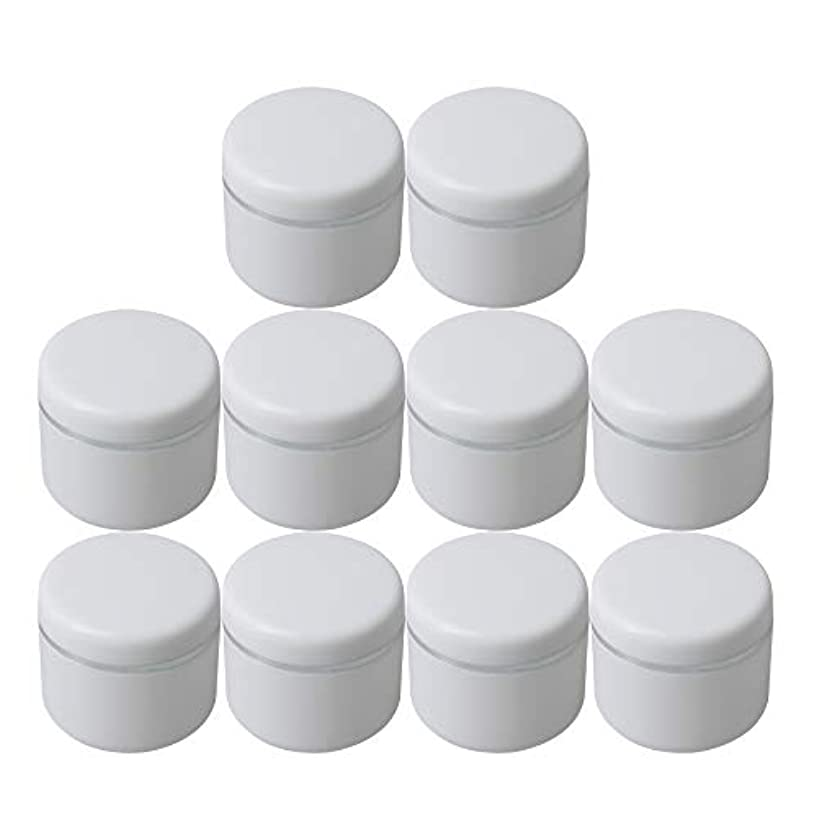 斧自我発表するDiystyle 10個入 クリームケース 空ポット 空容器 化粧品用 30g 詰替え ホワイト