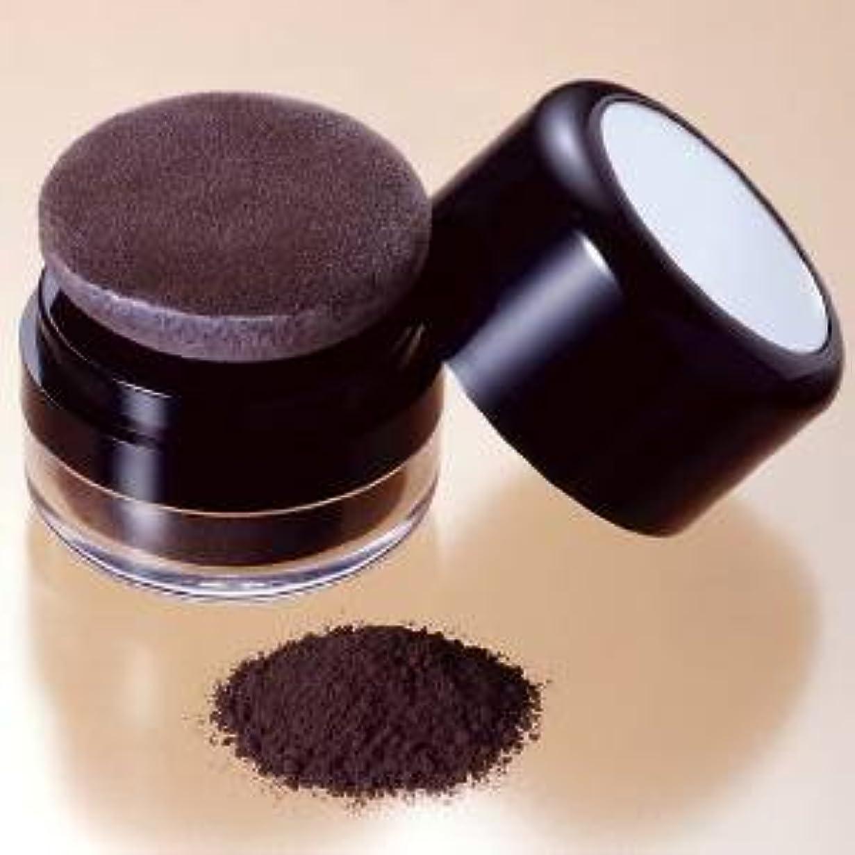 原油マットバインド薄毛と白髪 隠しに茶色の粉で頭頂部の禿げ隠し ブラウン(濃茶)