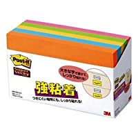 (まとめ) 3M ポストイット 強粘着ノート 75×127mm ネオンカラー5色 655-5SSAN 1パック(5冊) 【×3セット】 [簡易パッケージ品]