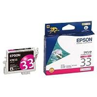 (まとめ) エプソン EPSON インクカートリッジ マゼンタ ICM33 1個 【×4セット】