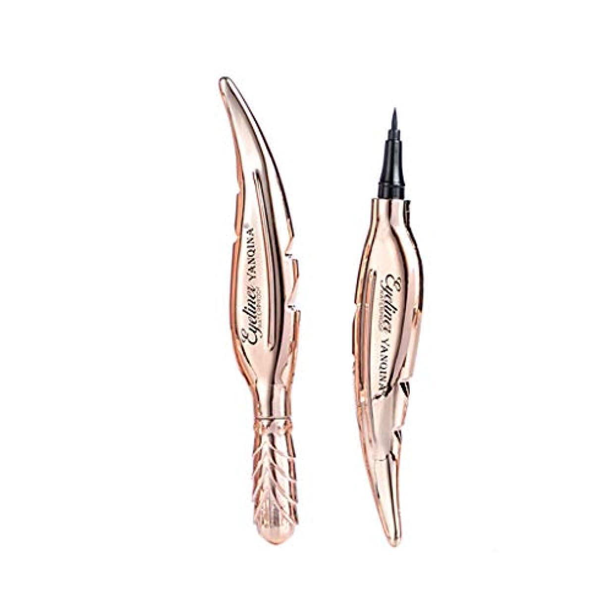 チロ糸くびれたYan Qinaの羽の形の涼しく黒いアイライナーのペンは染められない速い乾燥した防水