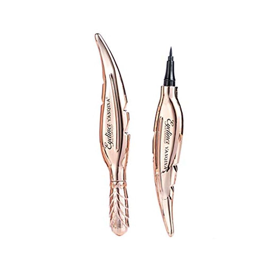 きらめき脅かすめまいYan Qinaの羽の形の涼しく黒いアイライナーのペンは染められない速い乾燥した防水