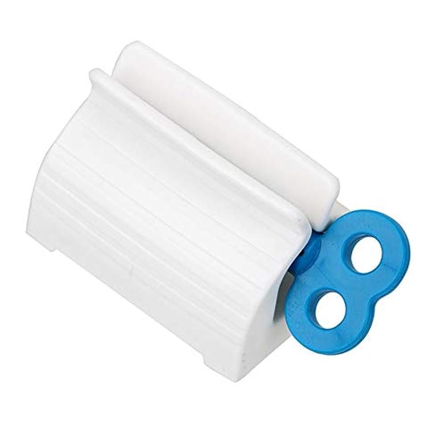 ペパーミント在庫後方にローリングチューブ歯磨き粉スクイーザー小説回転ハンドルディスペンサー超便利なセーバー多目的吸盤簡単浴室用プラスチックスタンドホルダー