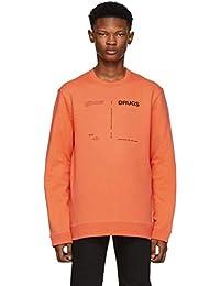 (ラフ シモンズ) Raf Simons メンズ トップス スウェット・トレーナー Orange 'Drugs' Regular Fit Sweatshirt [並行輸入品]