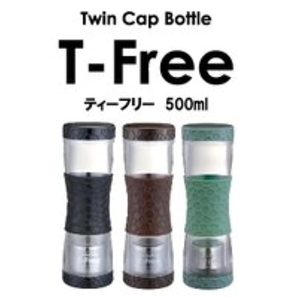 石鹸珍しい任命ティーフリー500ml T-Free (カラー:グリーン) ※使い方自由なツインキャップボトル