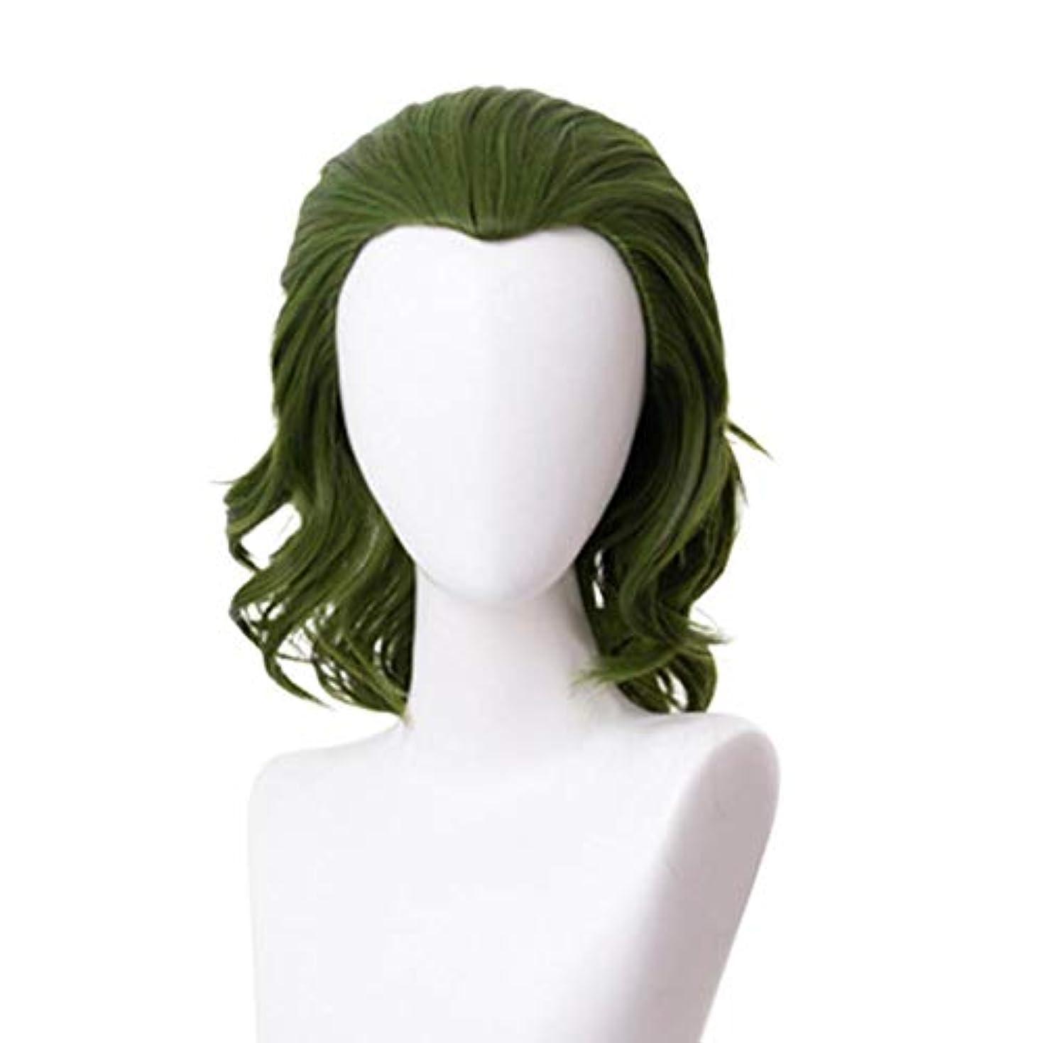 人物メッシュ興奮するBETTER YOU (ベター ュー) ピエロコスウィッグ、美容メイク、メイクウィッグ、高温シルク、抗熱傷、糸くずの出ない、緑