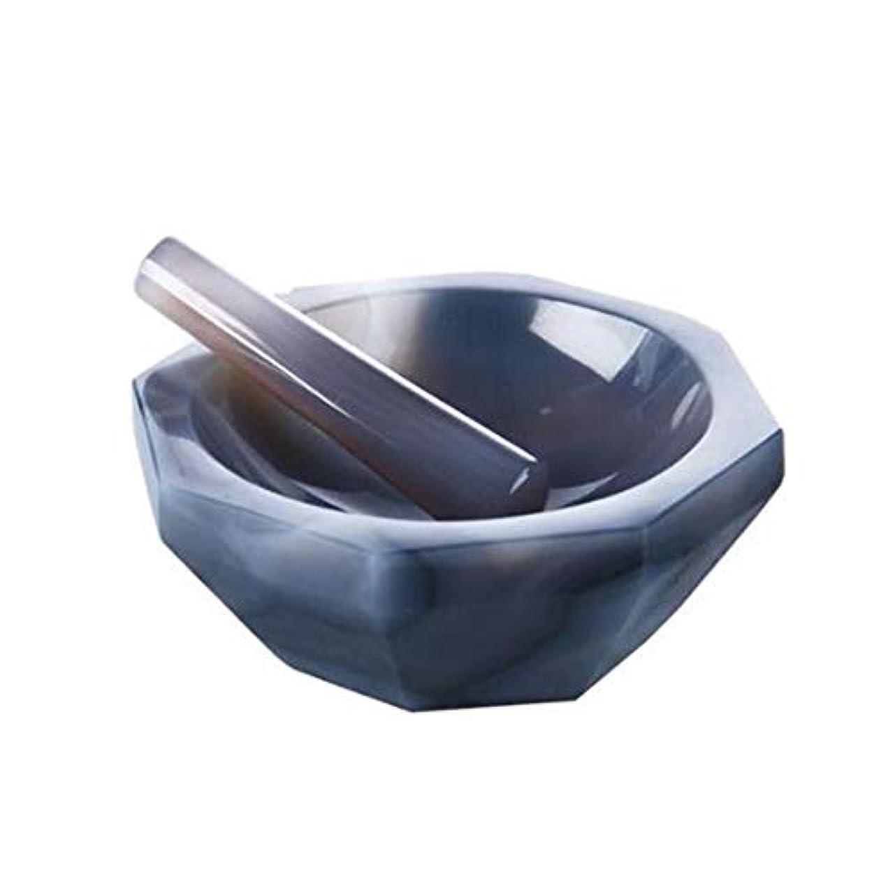 結婚するドライブ骨髄BMGAINT 手動モルタルと乳棒セット-めのう 乳鉢セット 瑪瑙モルタルラボ研削用 乳棒付き 深さ37 mm