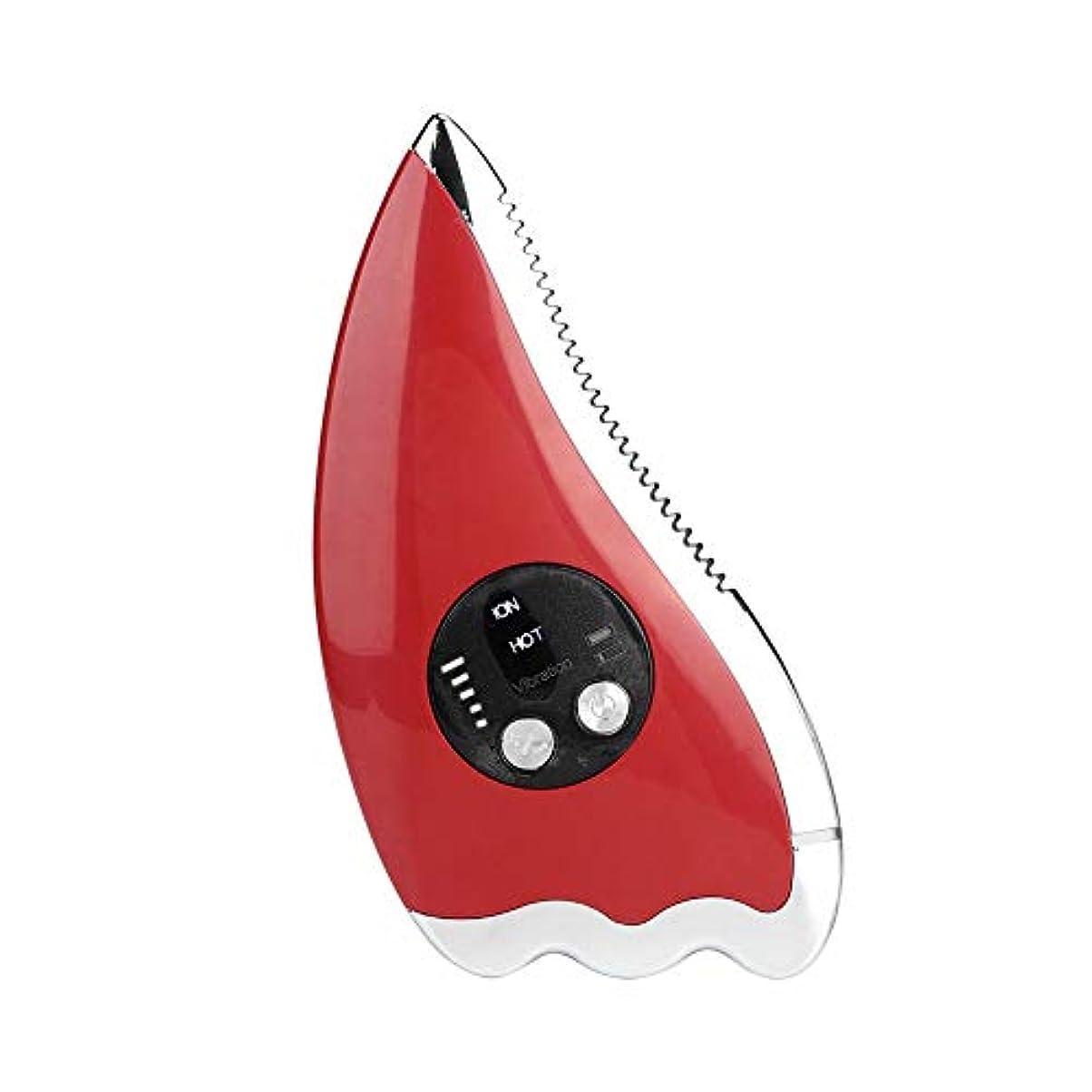 ポータブルスクレイピングマッサージャー、電動フェイスリフティングマッサージ機、マイクロカレントフェイシャルファーミングリジュビネーションビューティーデバイス、USB充電スクレイピングツール