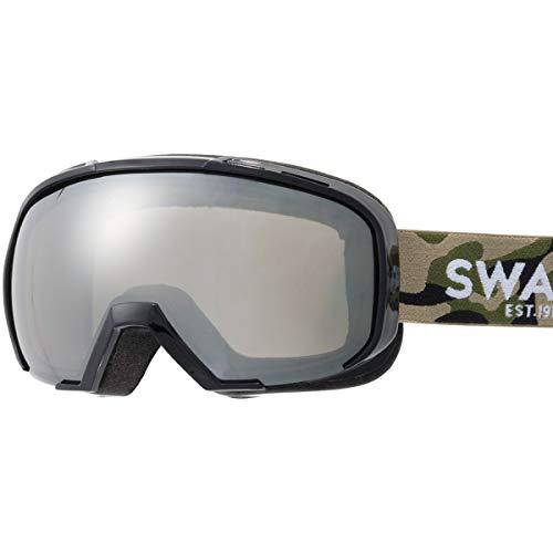 SWANS(スワンズ) スキー スノーボード ゴーグル くもり止め メガネ使用可 ミラー スキー スノーボード 080-MDHS CAMO