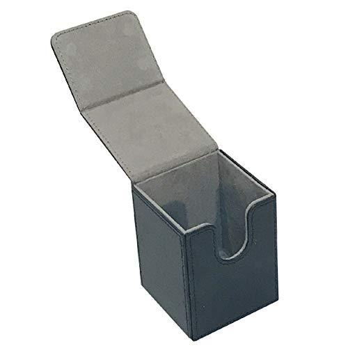 [Cicogna] トレカ カードデッキ レザー ケース 選べる4タイプ トレーディングカード ストレージボックス デッキホルダー 収納 Mシリーズ (タイプA: ブラック)