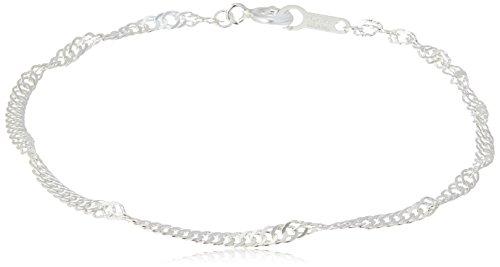 [해외][블룸] BLOOM 실버 스크류 체인 팔찌 BSB03900017/[Bloom] BLOOM silver screw chain bracelet BSB 03900017