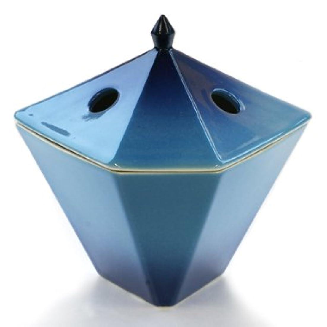 花瓶満足危険にさらされている縁香炉 青