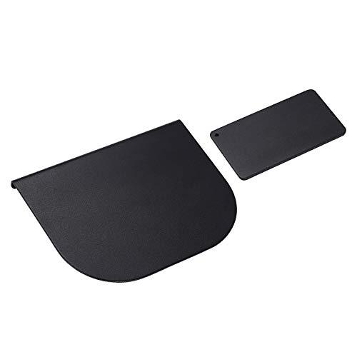 モニターアーム補強プレート 滑り止めシート付き 机保護 スチ—ル ブラック