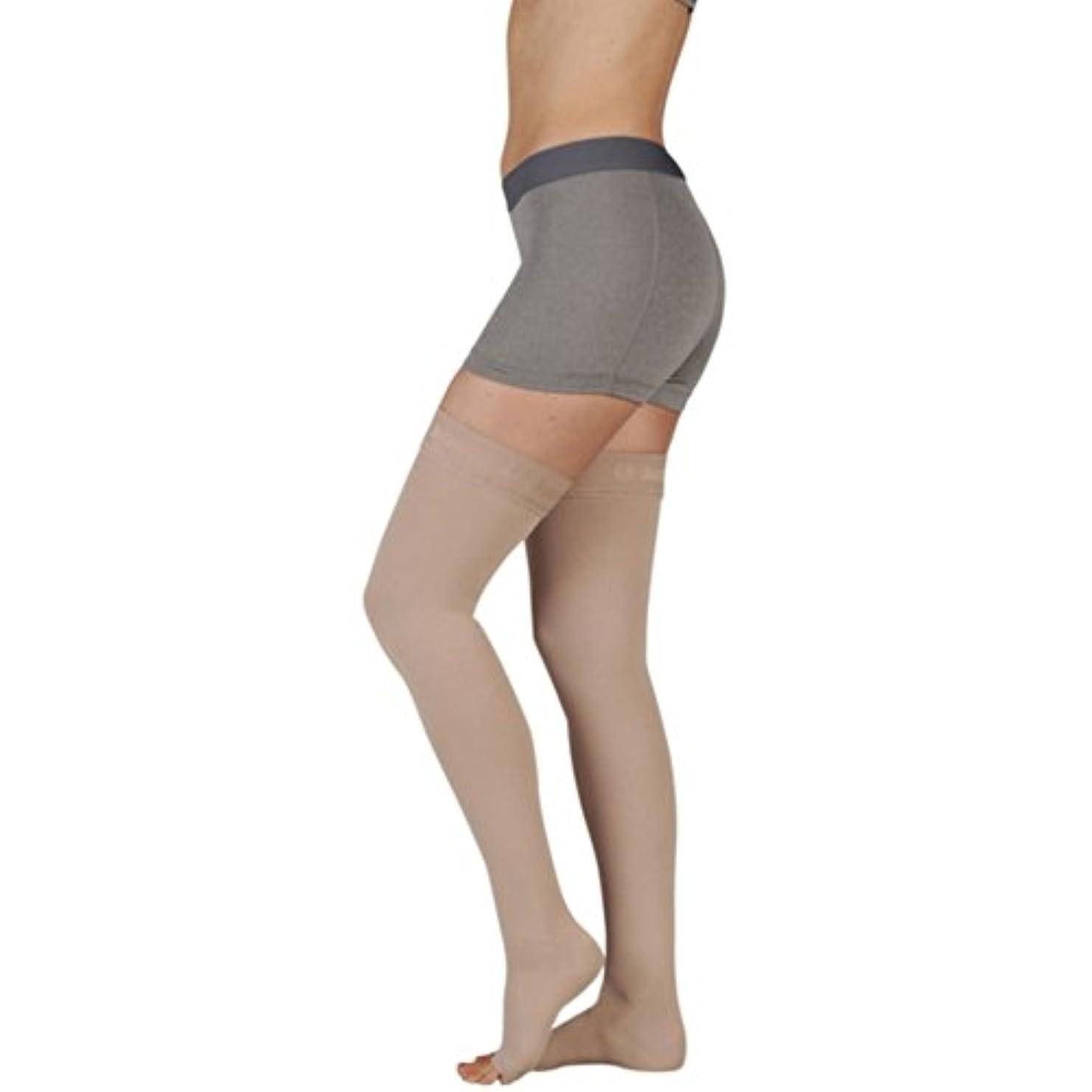 卒業記念アルバム支店レインコートJuzo Soft Thigh High With Silicone Dot Band 20-30mmHg Open Toe, III, Black by Juzo