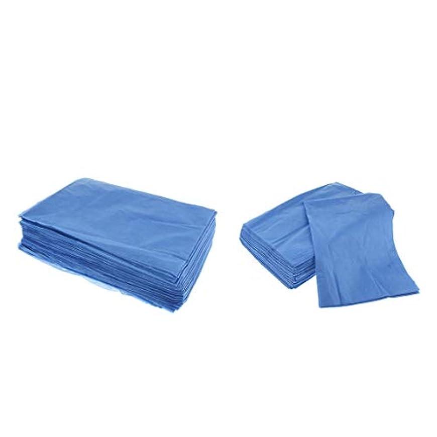 メッシュ左住人dailymall 40ピース使い捨て防水美容マッサージサロンホテルベッドパッドカバーシート-ブルー-31.5 X 70.9インチ