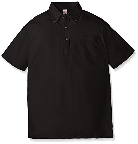 (ユナイテッドアスレ)UnitedAthle 5.3オンス ドライカノコ ユーティリティー ポロシャツ(ボタンダウン)(ポケット付) 505101 [メンズ] 002 ブラック L
