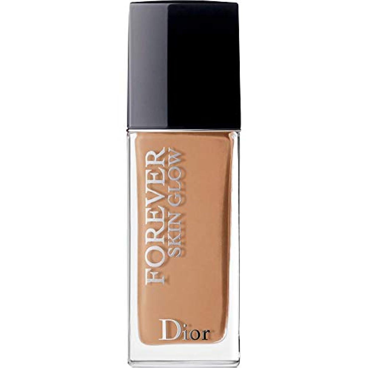 出します壁浴[Dior ] ディオール永遠肌の輝き肌思いやりの基礎Spf35 30ミリリットルの4.5ワット - 暖かい(肌の輝き) - DIOR Forever Skin Glow Skin-Caring Foundation SPF35...