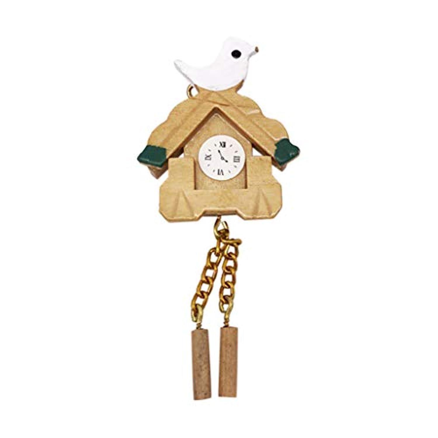 中古アマゾンジャングルファイバGOOD lask ミニバードウォールクロック、1:12ドールハウスのリビングルームの装飾、子供たちが遊ぶおもちゃのふりをする