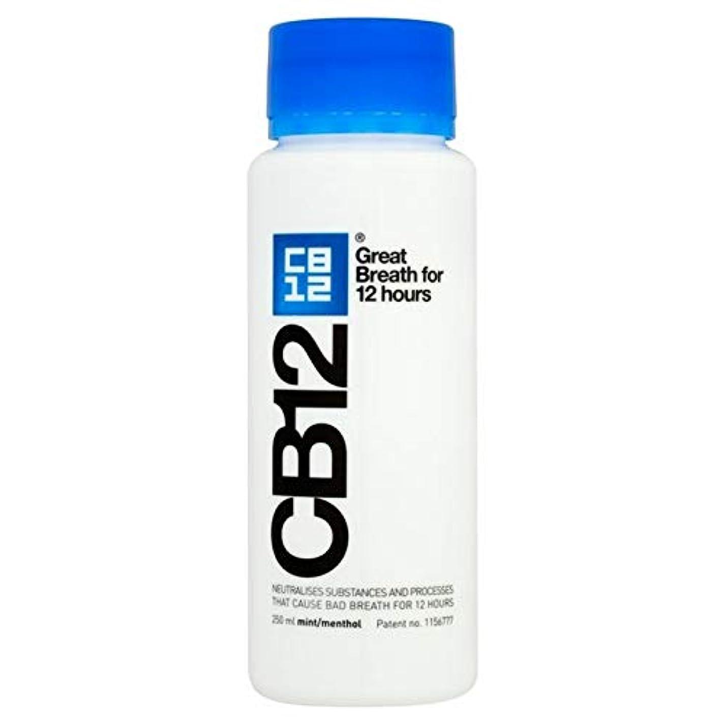読み書きのできない小包前件[CB12] Cb12安全な息マウスウォッシュミント250ミリリットル - CB12 Safe Breath Mouthwash Mint 250ml [並行輸入品]