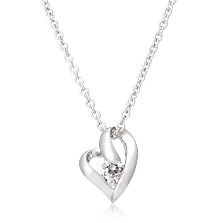 [シアーズ] Sears シルバー925 オープンハート ペンダント レディース 4月 誕生石 ダイヤモンド e-1658-4