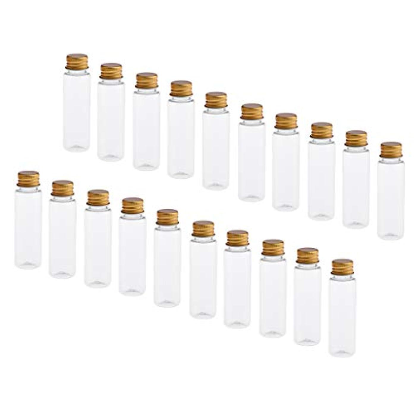 北東芸術バイナリP Prettyia 約20本 化粧ボトル トラベル 小分け容器 アルミスクリューキャップ 4色選べ - クリアゴールドキャップ